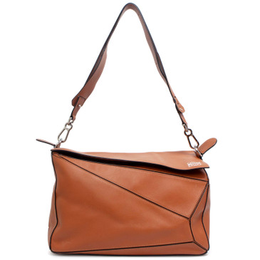 Loewe Rust Calfskin XL Puzzle Bag