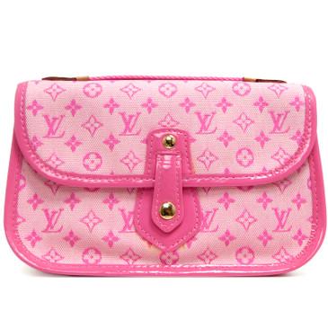 Louis Vuitton Pink Mini Lin Mary Kate Trousse Pochette