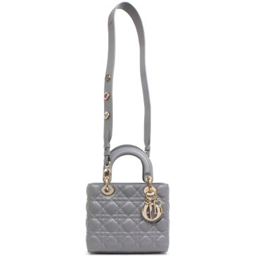 Christian Dior Grey Lambskin Small My Lady Dior
