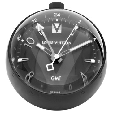 Louis Vuitton Tambour All Black Table Clock GMT