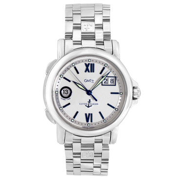 Ulysse Nardin Stainless Steel Dual Time GMT Automatic Watch 223-88