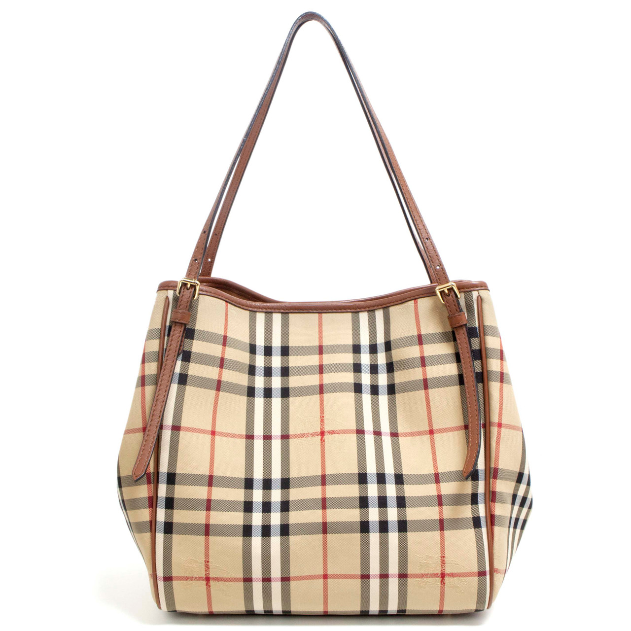 7a1f319af48e Burberry Horseferry Check Canvas Small Canterbury Tote - modaselle