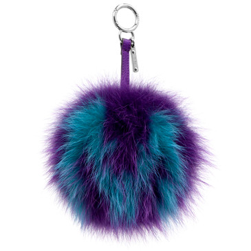 Fendi Fox Fur Pom Pom 'M' Bag  Charm