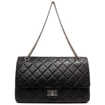 Chanel Black Aged Calfskin 2.55 Reissue Double Flap  227