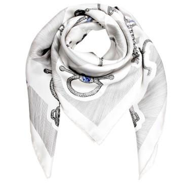 Hermes Silk Etude pour une Parure de Gala Scarf 90