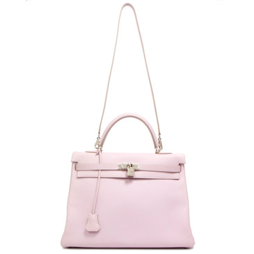 Hermes Rose Dragee Swift Kelly Retourne 35