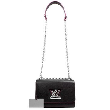 Louis Vuitton Noir & Hot Pink Epi Twist MM