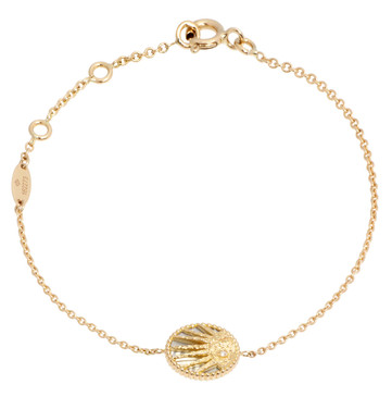 Christian Dior 18K Yellow Gold Rose Celeste Bracelet