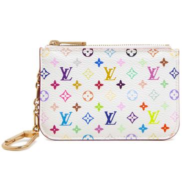 Louis Vuitton White Multicolor Key Pouch