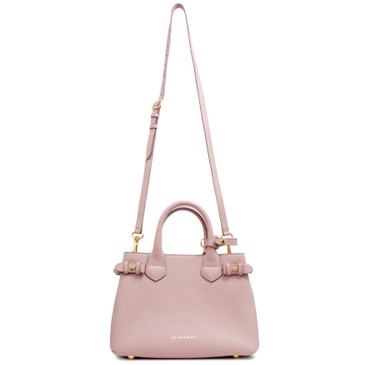Burberry Pale Orchid House Check Small Banner Tote