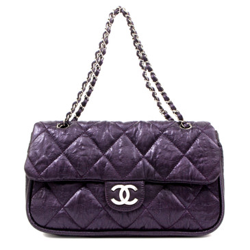 Chanel Purple Coated Canvas Le Marais Ligne Flap