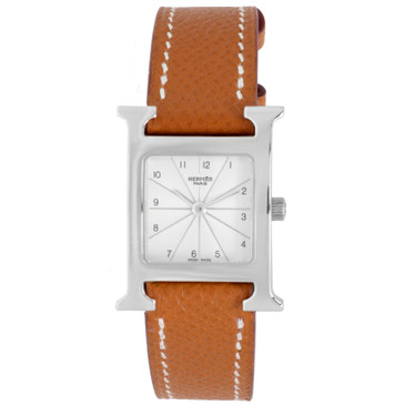 Hermes Stainless Steel Heure H 21mm Ladies Watch
