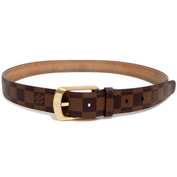 Louis Vuitton Damier Ebene 30mm Ellipse Belt