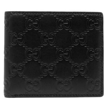 Gucci Black Guccissima Bi Fold Wallet