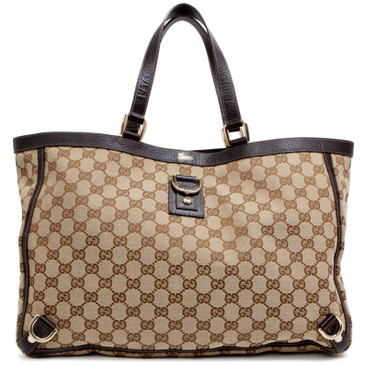 Gucci Brown Monogram Large Abbey Tote
