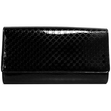 66ada60fe80b5c Gucci Black Patent Microguccissima Medium Broadway Clutch