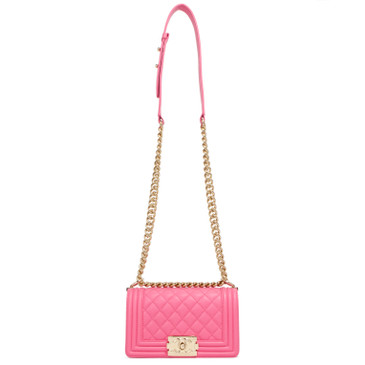 Chanel Pink Calfskin Small Boy Bag