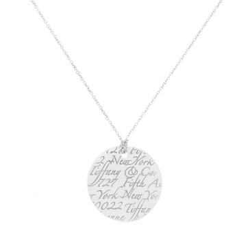 Tiffany & Co. Sterling Silver Round Notes  Pendant