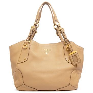 Prada Sughero Vitello Daino Shoulder Bag
