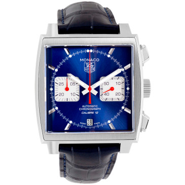 Tag Heuer Monaco Calibre 12 Chronograph Watch CAW2111