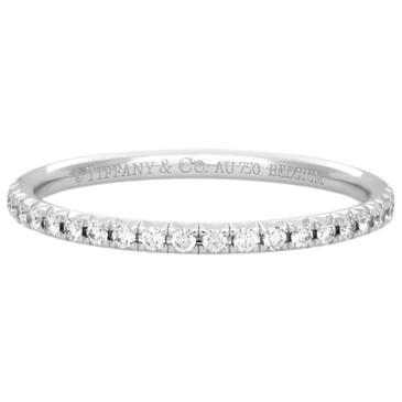 Tiffany & Co. 18K White Gold & Diamond Metro Ring