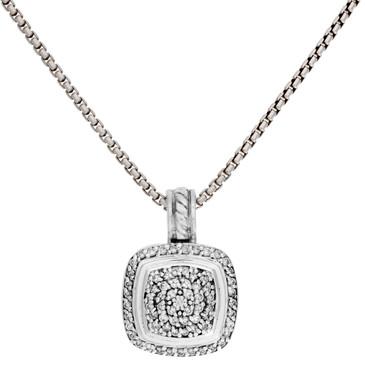 David Yurman Sterling Silver & Diamond Albion Pendant Necklace