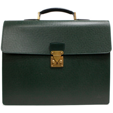 Louis Vuitton Green Taiga Serviette Moskova Briefcase