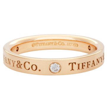 Tiffany & Co. 18K Rose Gold & Diamond Band  Ring