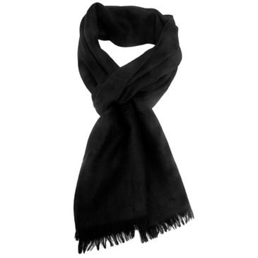 Gucci Black Wool/Silk Monogram Scarf