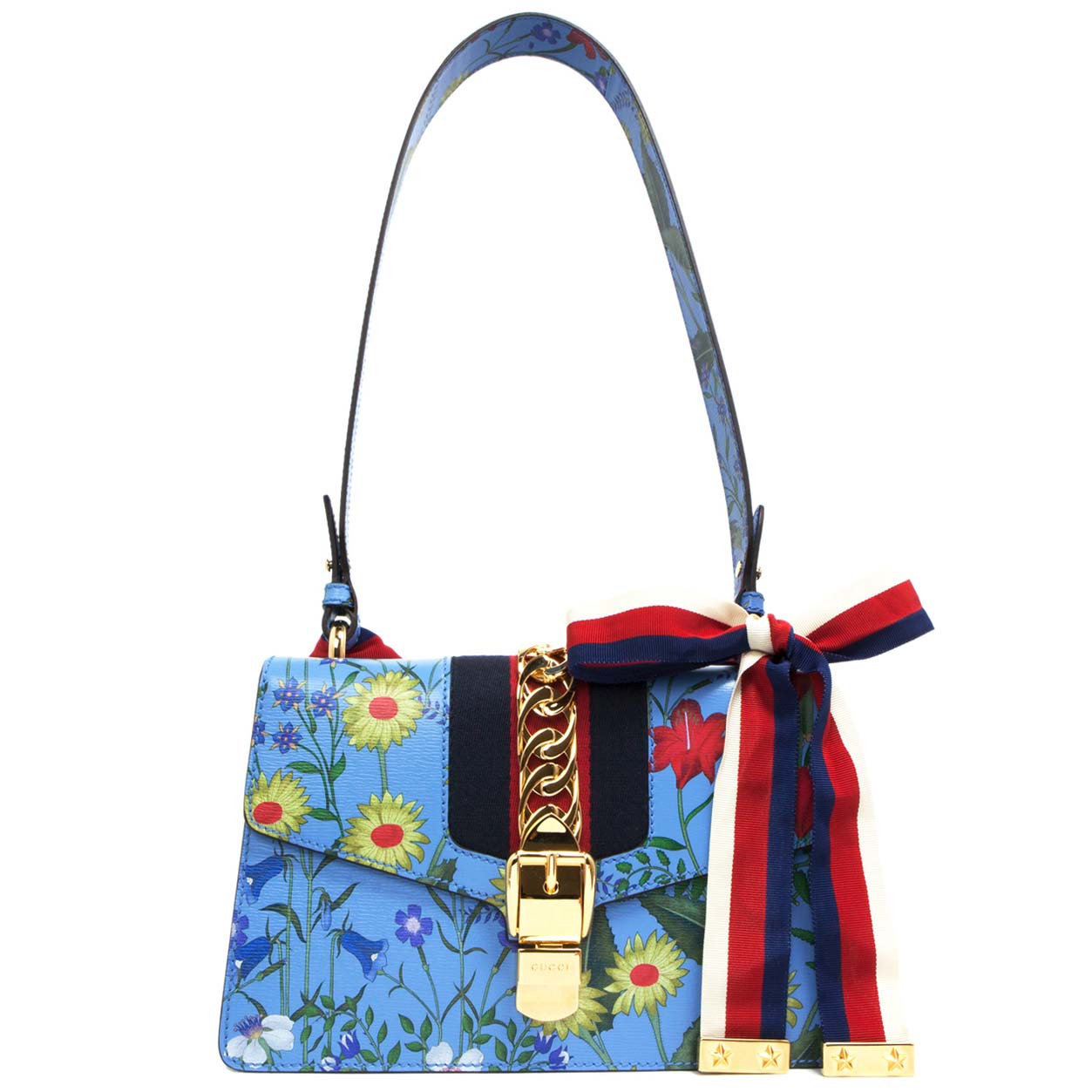 230289130 Gucci New Flora Small Sylvie Shoulder Bag - modaselle