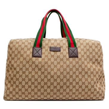 Gucci Monogram Web Carryall Duffle
