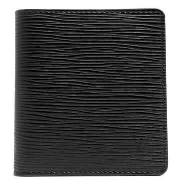 Louis Vuitton Black Epi Six Card Billfold Wallet