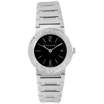 Bvlgari Stainless Steel Quartz Ladies Watch BB 26 SS