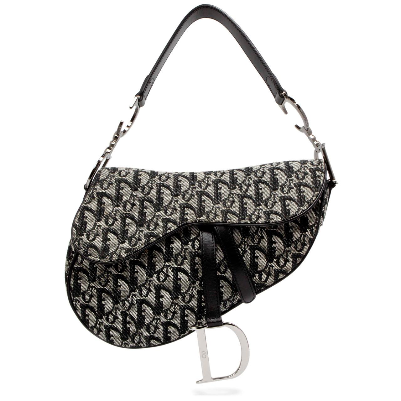 5e449f1d229 Christian Dior Black Monogram Saddle Bag - modaselle