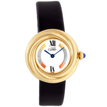 Cartier Gold Vermeil Must de Cartier Trinity Quartz Watch