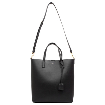 Saint Laurent Black Calfskin Toy Shopping Tote