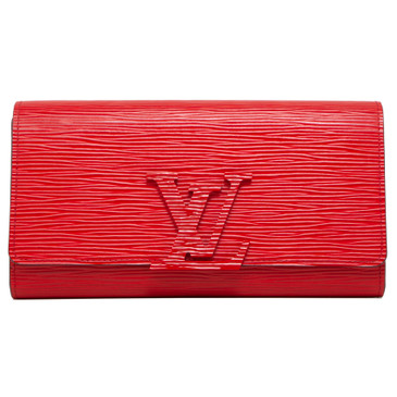 Louis Vuitton Coquelicot Epi Louise Wallet