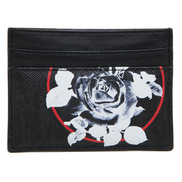 Christian Dior Homme Rose Print Card Holder