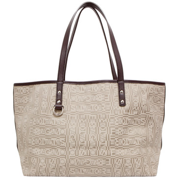 Ferragamo Grey Signature Nylon Tote
