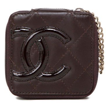 Chanel Brown Calfskin Cambon Vanity Pouch