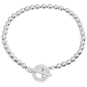 Tiffany & Co. Sterling Silver Toggle Bead Bracelet