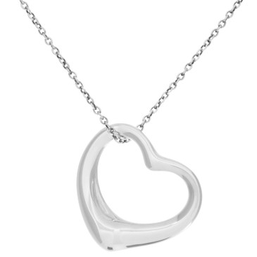 926a03cfa4462e Tiffany & Co. Sterling Silver 27mm Open Heart Pendant