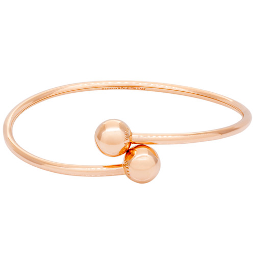 256c250c9 Tiffany & Co. 18K Rose Gold Hardwear Ball Bypass Bracelet - modaselle