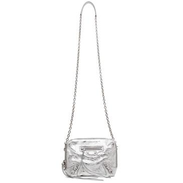 Balenciaga Silver Lambskin Classic Reporter XS