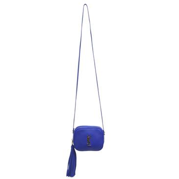 Saint Laurent Blue Nappa Monogram  Blogger Bag