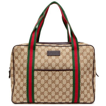 Gucci Monogram Web Carry On Tote