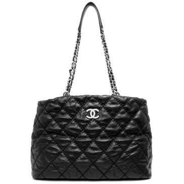 Chanel Black Calfskin Love Me Tender Large  Tote