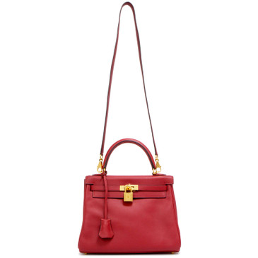 Hermes Rouge Casaque Swift  Kelly Retourne 25