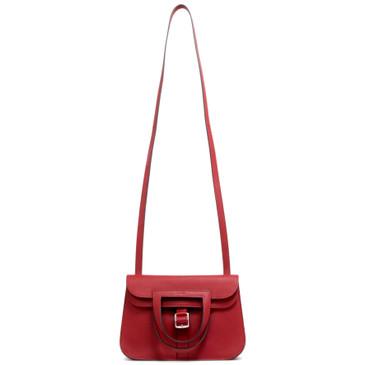 Hermes Rouge Casaque Swift Halzan Mini