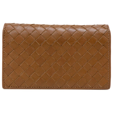 Bottega Veneta Brown Intrecciato Card Case
